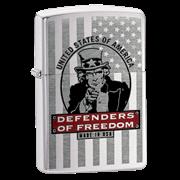 Широкая зажигалка Zippo Defenders 24185