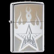 Широкая зажигалка Zippo Fire Star 21191