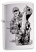 Широкая зажигалка Zippo Fisherman 200FISHERMAN