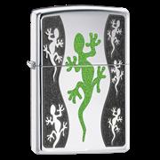 Широкая зажигалка Zippo Green Lizard 21149