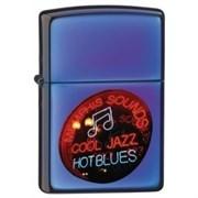 Широкая зажигалка Zippo Jazzin' Blues 21094