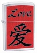 Широкая зажигалка Zippo Love 24263