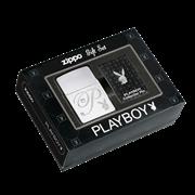 Подарочный набор Zippo зажигалка + значок Playboy 24778