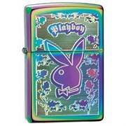 Широкая зажигалка Zippo Playboy spectrum 24447