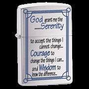 Широкая зажигалка Zippo Serenity Prayer 24355