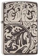 Широкая зажигалка Zippo Magnifying Scrolls 150