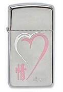 Узкая зажигалка Zippo Love series 1610