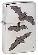 Широкая зажигалка Zippo Bats 200