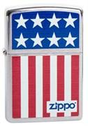 Широкая зажигалка Zippo Flag 200