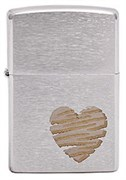 Широкая зажигалка Zippo Heart Design 200