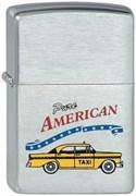 Широкая зажигалка Zippo Yellow Car 200