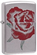 Широкая зажигалка Zippo Large Rose 205