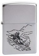 Широкая зажигалка Zippo Skier 205