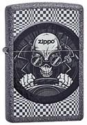 Широкая зажигалка Zippo Skull racer 211