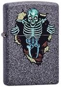 Широкая зажигалка Zippo Skull wall 211