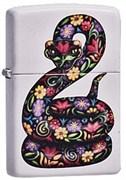Широкая зажигалка Zippo Flowered Snake 214