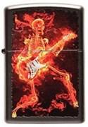 Широкая зажигалка Zippo Guitarist 218