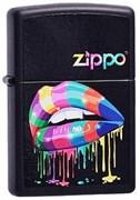 Широкая зажигалка Zippo Rainbow Lips 218