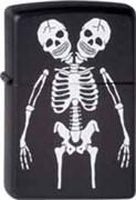 Широкая зажигалка Zippo Skeletons 218