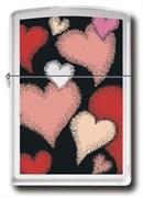 Широкая зажигалка Zippo Colors of love 24243
