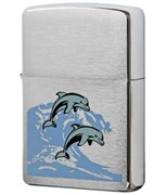 Широкая зажигалка Zippo SV-Dolphins 24501