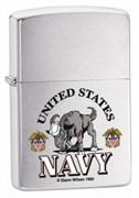 Широкая зажигалка Zippo US Navy 24533