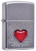 Широкая зажигалка Zippo Abstract Heart 250