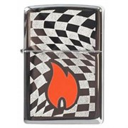 Широкая зажигалка Zippo Flame Racing 268