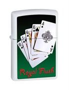 Широкая зажигалка Zippo Royal Flush 28038