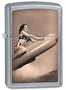 Широкая зажигалка Zippo Rocket girl 28461