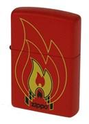 Широкая зажигалка Zippo Flames 28774