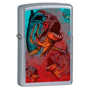 Широкая зажигалка Zippo Piranha 24885