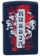 Широкая зажигалка Zippo Russia 239