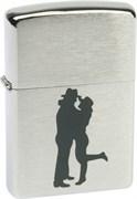 Широкая зажигалка Zippo Cowboy Couple 200