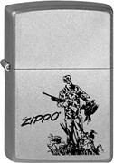 Широкая зажигалка Zippo Duck Hunting 205