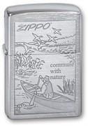 Широкая зажигалка Zippo Row Boat 200