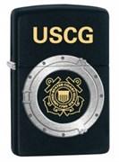 Широкая зажигалка Zippo USCG 28623