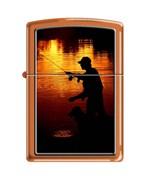 Широкая зажигалка Zippo FISHING 231