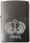 Широкая зажигалка Zippo Wings+Star 200