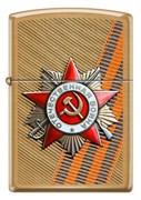 Зажигалка Zippo ST George День победы с покрытием Brushed Brass 204B
