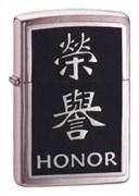 Зажигалка широкая Zippo Zchinese Symbol Honor 20332