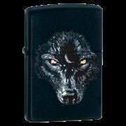 Зажигалка широкая Zippo Black Wolf 28001