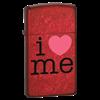 Узкая зажигалка Zippo I Love Me 24352 - фото 4791