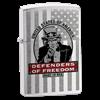 Широкая зажигалка Zippo Defenders 24185 - фото 4866