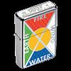 Широкая зажигалка Zippo Earth, Fire, Wind, Water 24812 - фото 4869