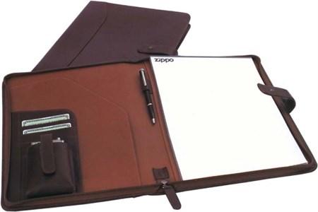 Папка для документов с блокнотом А4 Zippo 63011 BL-330 коричневая - фото 4479