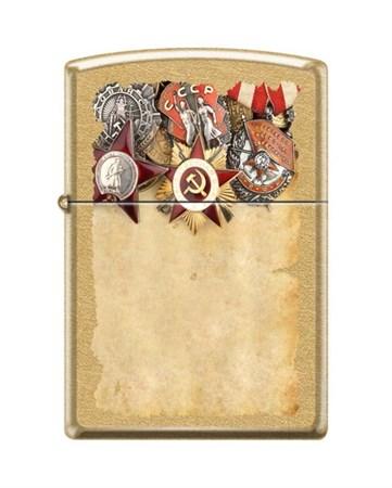 Широкая зажигалка Zippo Советские ордена 207G Russian Medals - фото 4540