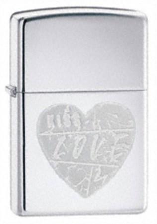Широкая зажигалка Zippo For The Love 24198 - фото 4577