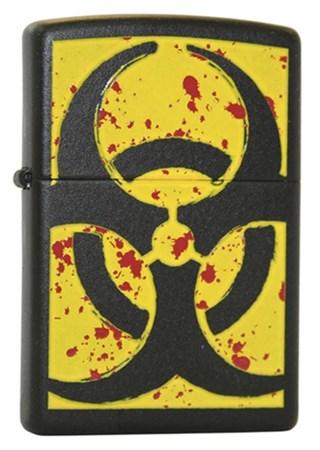 Широкая зажигалка Zippo Hazardous 24330 - фото 4581