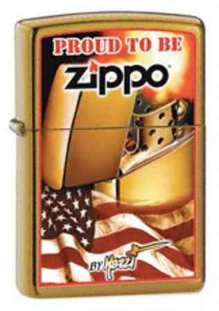 Широкая зажигалка Zippo Mazzi Zippo Flag 24746 - фото 4590